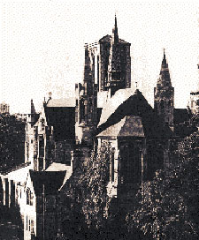 Sepia photo of St Stephens