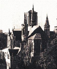 Sepia photo of St Stephens