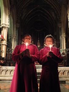 Choristers at Christmas 2012